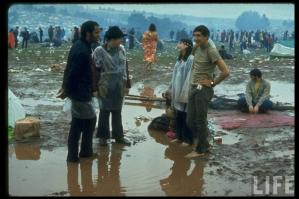 Рок-фестиваль Woodstock 1969 хиппи